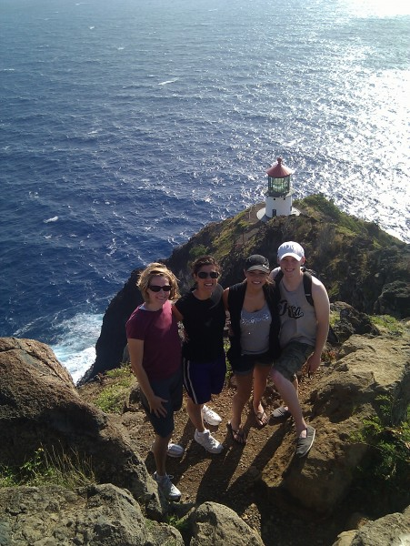 Great way to get some exercise...walking to Makapu'u light house