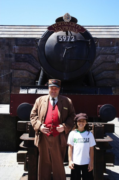 The Hogwart&#039;s Express and conductor