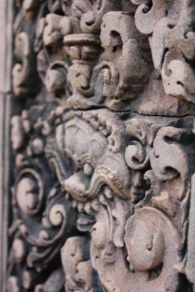 Amazing stone sculptures seen throughout the temples