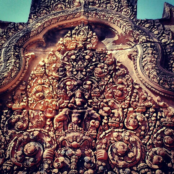 Amazing detail.  And this was just one small area of the Banteay Srei Temple
