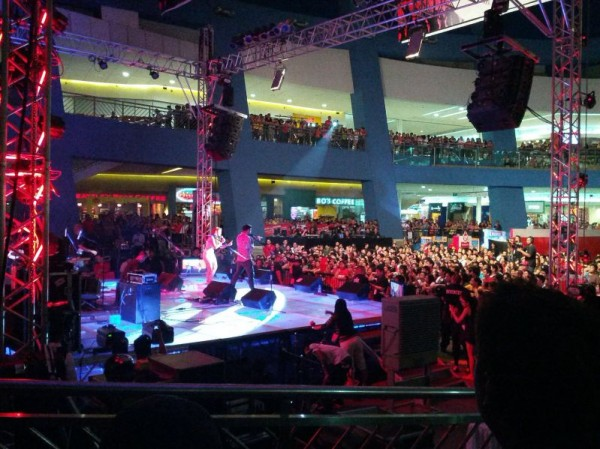 A concert at the Mall of Asia
