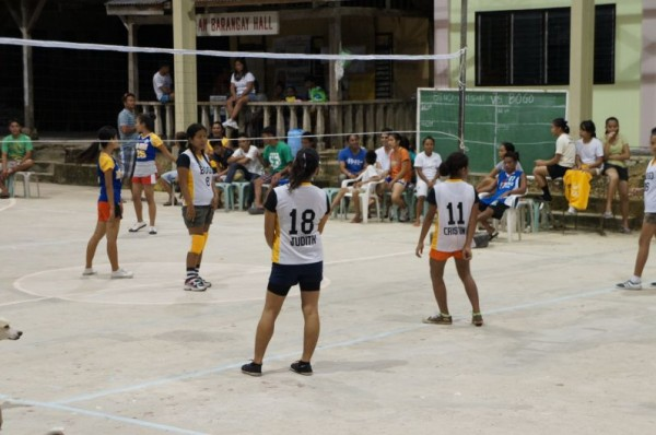 Village volleyball tournament held at least yearly.  (Cousin Judith Grado #18)