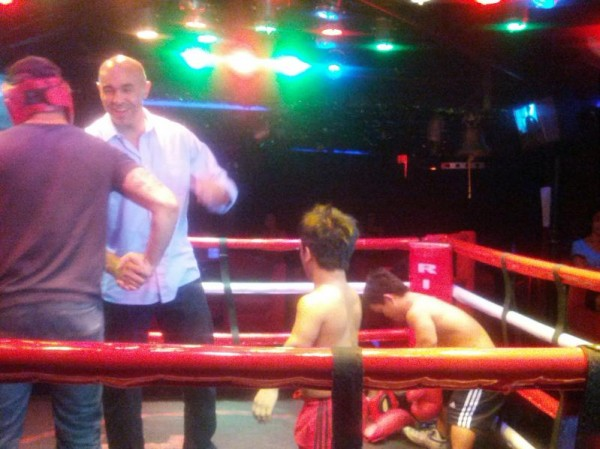 Last night with Robbie - Midget Boxing