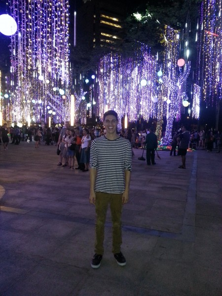 Ayala Triangle where there was a music and light show for the month of December