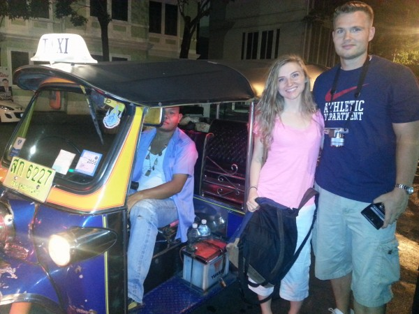 She rode around on a tuk tuk with her big brother