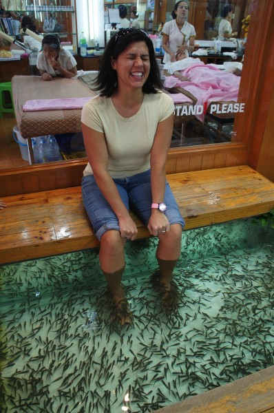 Fish Spa in the backpackers area of Khao San