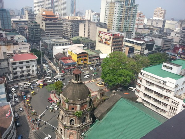 Old Manila China Town as seen from above