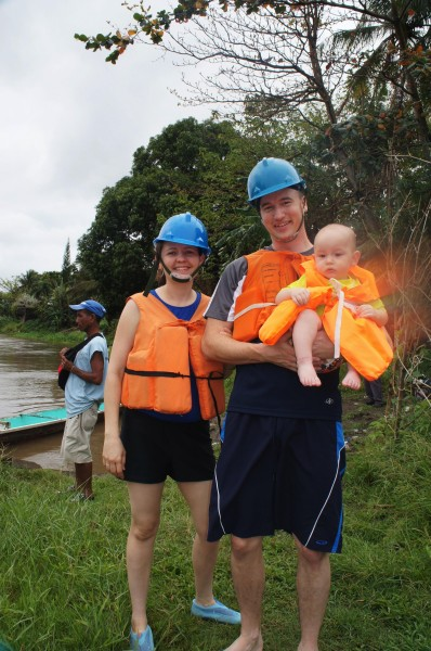 Sawyer family ready for Pagsanjan Falls.  It rained heavily the day before, so we were only able to go 1/3 of the way, but it was still an enjoyable trip.