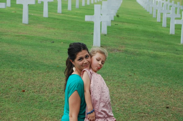 Makana enjoyed a Sunday afternoon at the American Cemetery in Manila.