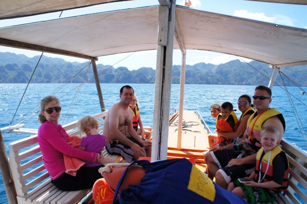 """Leaving for our day excursion of the """"Coron Island Tour"""" where we were able to snorkel at 3-4 different locations in Coron"""
