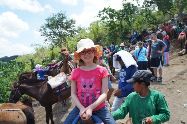 Everyone got to ride a horse up to Taal Volcano...and this place was SUPER busy on Good Friday.