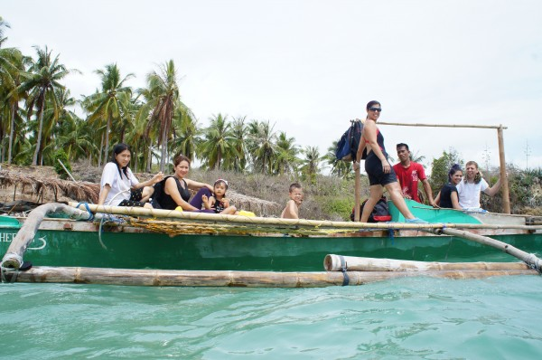 We all got into our cousin's boat and enjoyed the beautiful scenery of Siquijor.