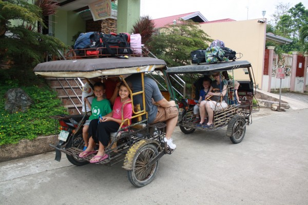 We stayed at a pretty run down place, but it was near the ferry port.  We all loaded up into 2 trikes and headed to the ferry terminal to go to Cebu.