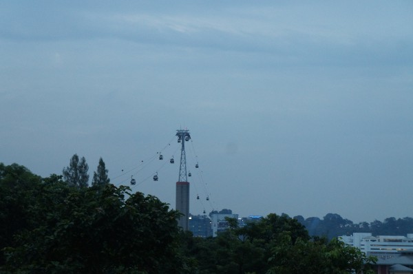 When we finally left Sentosa Island we took these cable cars to get back to the mainland