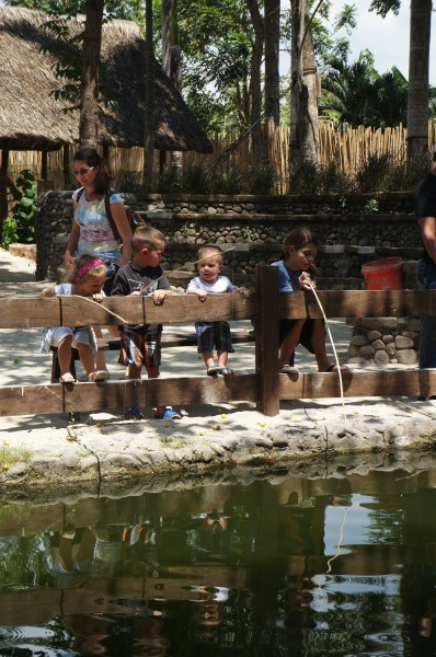 The kids and moms enjoyed a day at Stana Elena Fun Farm.  We spent the day fishing, horse back riding, feeding animals, doing a zip line, riding a water buffalo/carabao pulled wagon, etc.