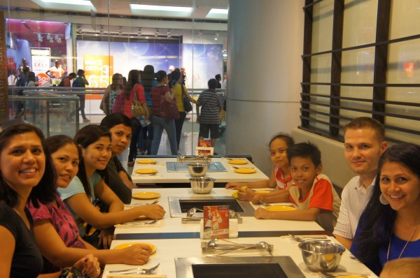First time meeting cousins, so we treated them to dinner at the mall.