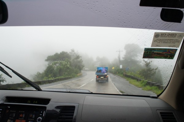 Driving to Baguio in a monsoon storm.  It took us about 5 hours to get there with a lunch stop along the way.