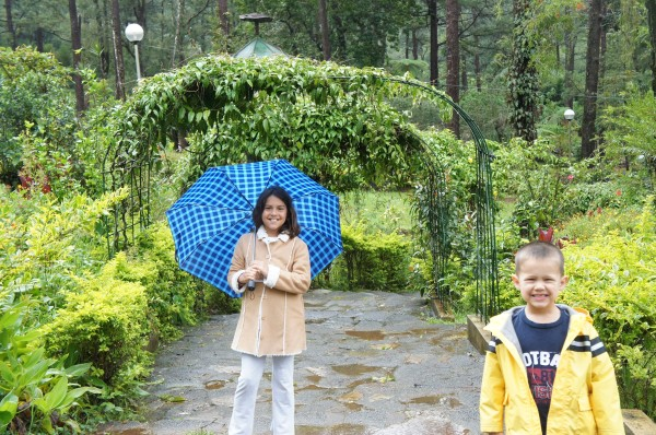 There was a drizzle while exploring the Botanical Garden, but we all had a good time.