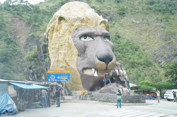 Random lion head we saw on our drive back to Manila