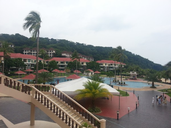 The resort had a nice pool, access to the beach, play ground, fish spa and volleyball court.