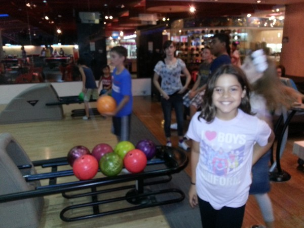 We had a day of bowling with friends.