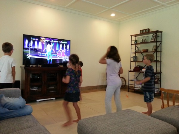 Dancing/playing at a friend's house