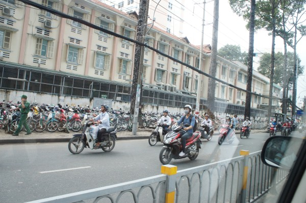 Vietnam has a TON of motorbikes.  I don't understand the traffic rules and I am grateful we were in a car.  Still it was impressive to see so many motorbikes on the road.