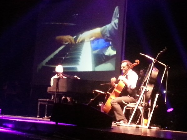 The Piano Guys during their performance