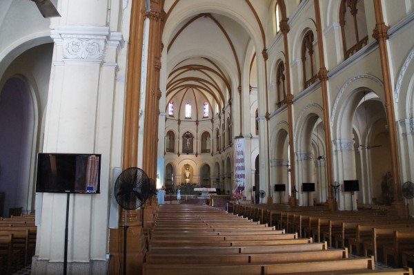 Inside of the Saigon Notre-Dame Basilica