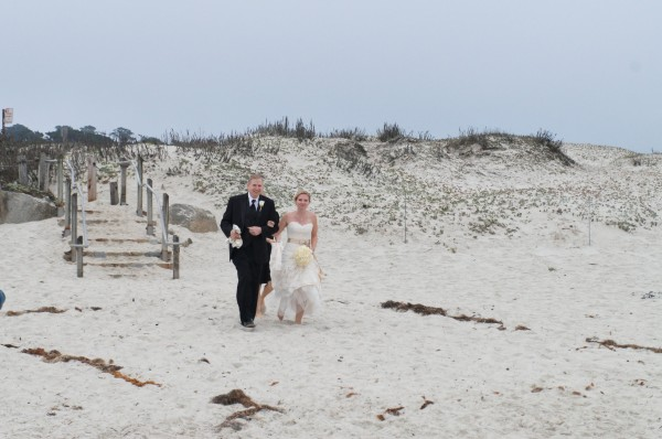 The wedding was held on the beach at Asilomar where my in-laws first met each other.