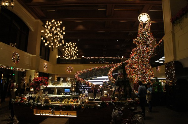 The decorations were spectacular inside the hotel