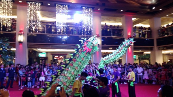 """In the evening we went to Grand Indonesia Mall where there were """"Chinese New Year shows"""""""