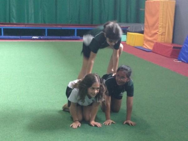 Gymnastics unit performance for PE