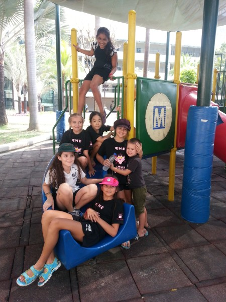 Kalani with some of her classmates