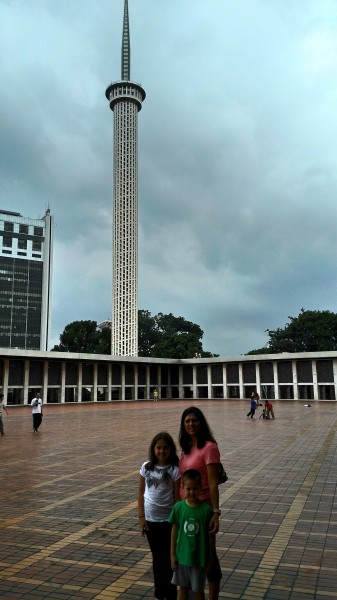 Istiqlal tower as seen from within the mosque grounds