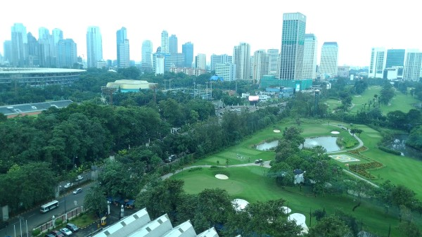 Our view of Jakarta from our hotel window