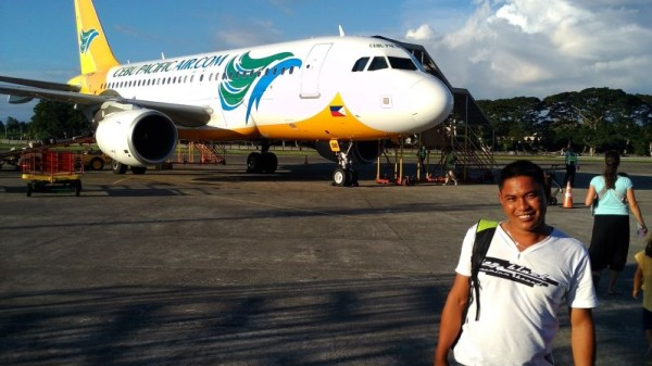 Our cousin ready to board his first plane and spend 5 days in Manila with us
