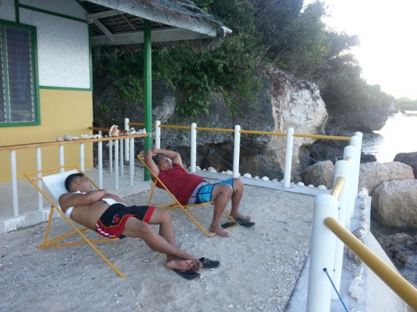 My dad and his half-grand-nephew were similar is various things...even how they slept. It is a good thing they caught up on their sleep in Siquijor since the fun didn't stop in Manila!