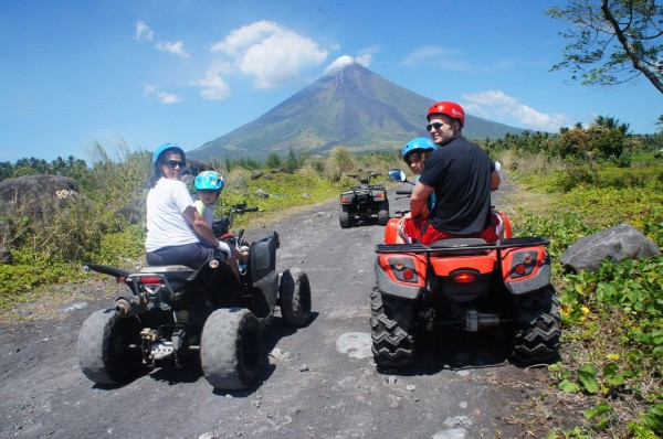After our whale shark experience we wanted to spend some more time in Legazpi, so we rented ATVs and headed to the lava wall of Mayon Volcano