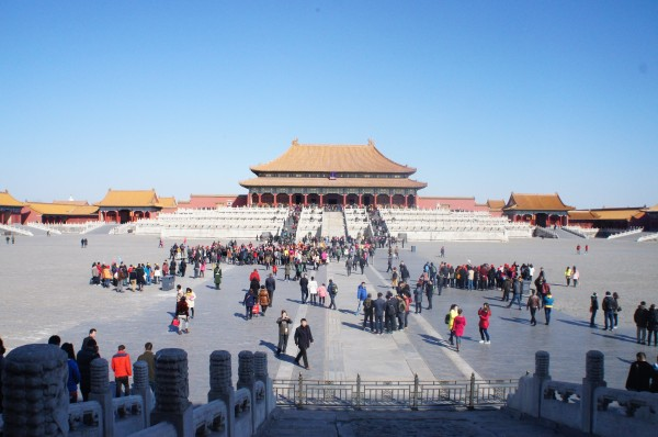 Part of the Forbidden City. This view reminds me of the Disney movie Mulan