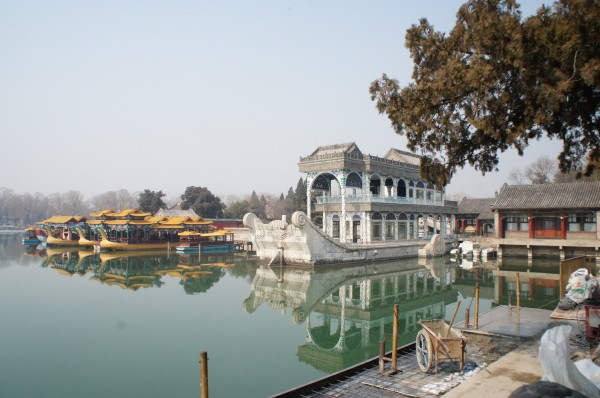 This marble boat has held many functions and is just beautiful