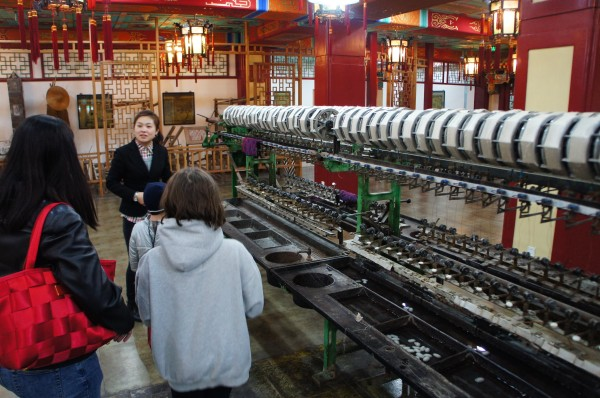 And we ended the day by visiting a silk factory where we learned about the silk process