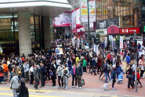Streets of Hong Kong are busy