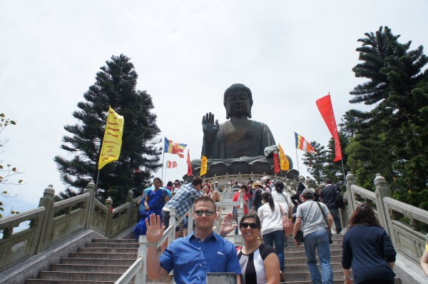 Buddha (34 meters high) is blessing us as we climbed the 268 steps to reach the statue