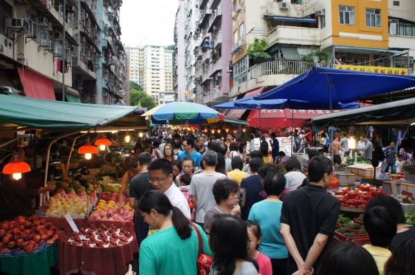 A local market in Hong Kong