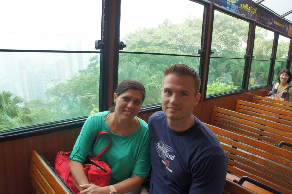 We took a tram up to Victoria Peak