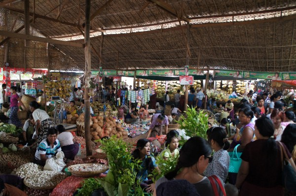Our first stop in Bagan was at the Nyong U Market. They have produce, meat, souvenirs, etc