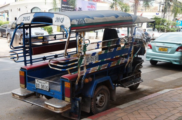 One form of the local transportation in Laos