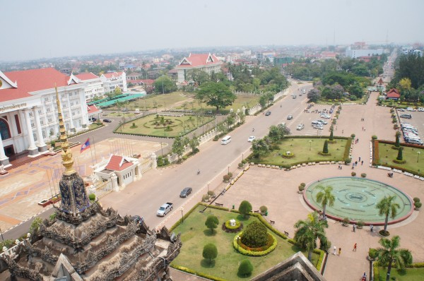 View of Vientaine from Patuxai