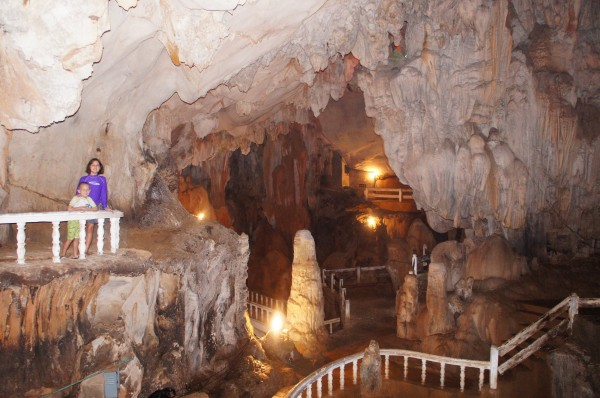 Inside Tham Chang Cave